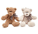 PLUSH LIGHT/DARK BROWN BEAR SET
