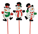 "12"" WOOD SNOWMAN PICK SET"