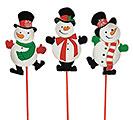 "12"" WOOD SNOWMAN PICK SET"
