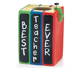 BOOKWORM BEST TEACHER EVER VASE