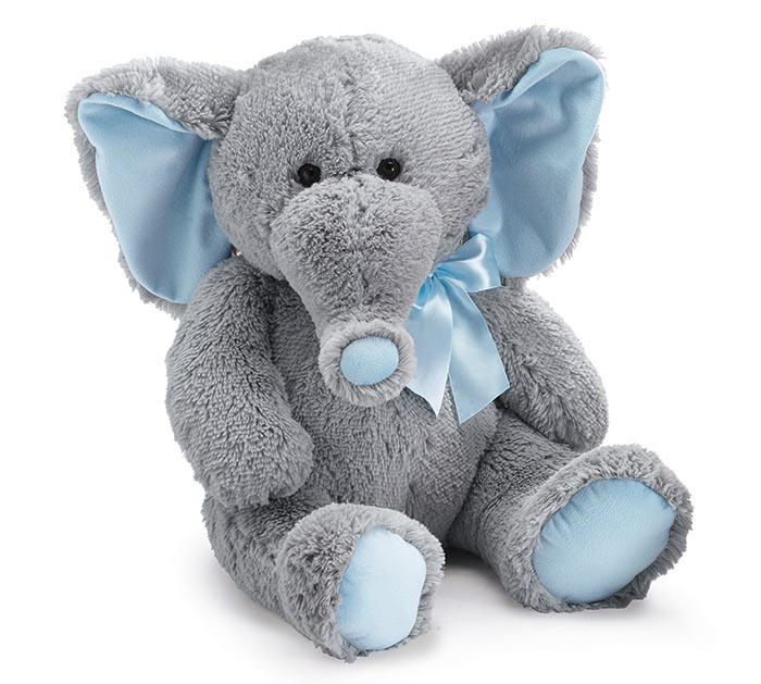 Plush Gray Baby Boy Elephant