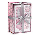 BABY GIRL PINK/GRAY DOTS GIFT SET 1st Alternate Image