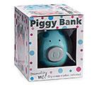 BLUE/GRAY DOT CERAMIC PIG BANK 1st Alternate Image