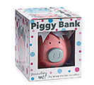 PINK/GRAY DOT CERAMIC PIG BANK 1st Alternate Image