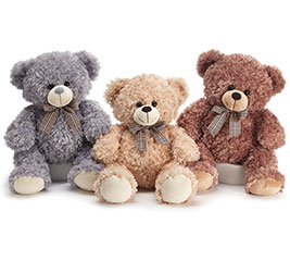 PLUSH BEIGE/GRAY/BROWN BEAR TRIO