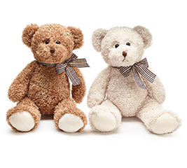 PLUSH IVORY/BROWN BEAR PAIR