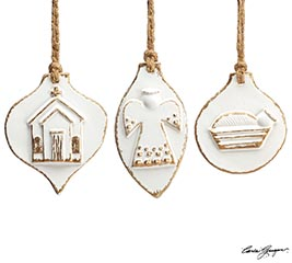 WHITER THAN SNOW ORNAMENT SET