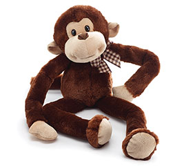 PLUSH BROWN MONKEY W/ LONG ARMS/LEGS