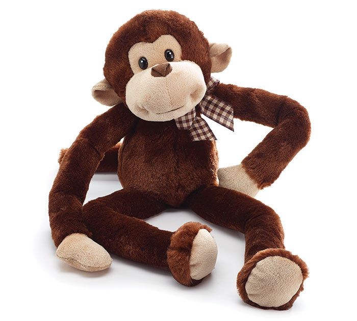 Plush Brown Monkey W Long Arms Legs