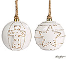 WHITER THAN SNOW CERAMIC ORNAMENT SET