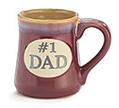 #1 DAD PORCELAIN MUG