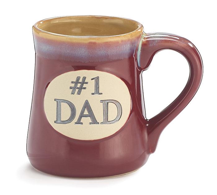 #1 DAD PORCELAIN MUG