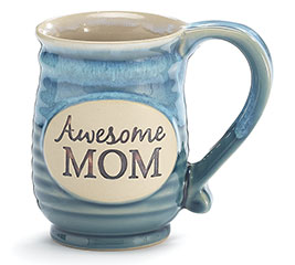 AWESOME MOM PORCELAIN MUG