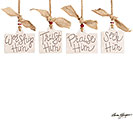 HEAVEN/NATURE SING MESSAGES ORNAMENT SET