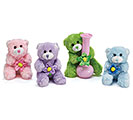 PLUSH SPRING COLORS BEAR VASE HUGGER SET