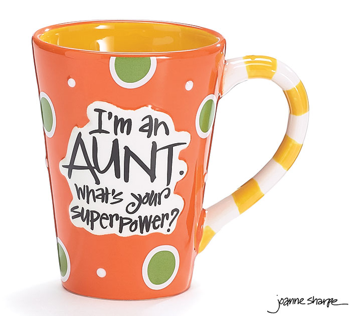 I'M AN AUNT SUPERPOWER CERAMIC MUG