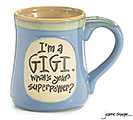 I'M A GIGI SUPERPOWER CERAMIC MUG