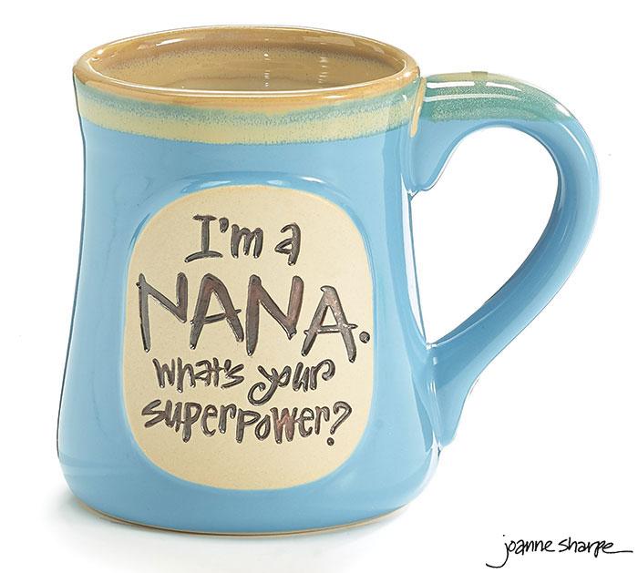 I'M A NANA SUPERPOWER CERAMIC MUG
