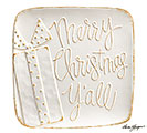 WHITER THAN SNOW MERRY CHRISTMAS PLATTER