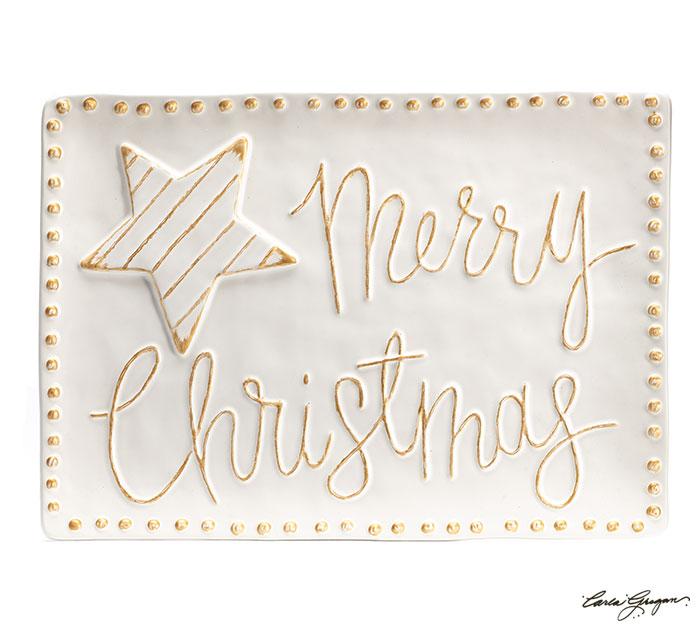 WHITER THAN SNOW MERRY CHRISTMAS TRAY
