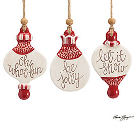HEAVEN AND NATURE SING CERAMIC ORNAMENTS