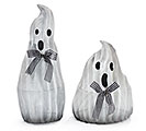 WHITE MESH ON METAL GLITTERED GHOST PAIR