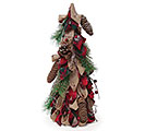 "16"" BURLAP/RED PLAID DECOR TREE"