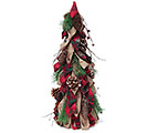 "24"" BURLAP/RED PLAID DECOR TREE"