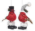 RED BIRD SISAL COUPLE ORNAMENT