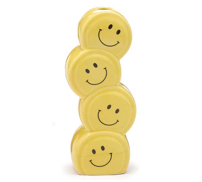 SMILEY FACE STACKED CERAMIC VASE