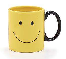SMILEY FACE CERAMIC MUG W/ BOX