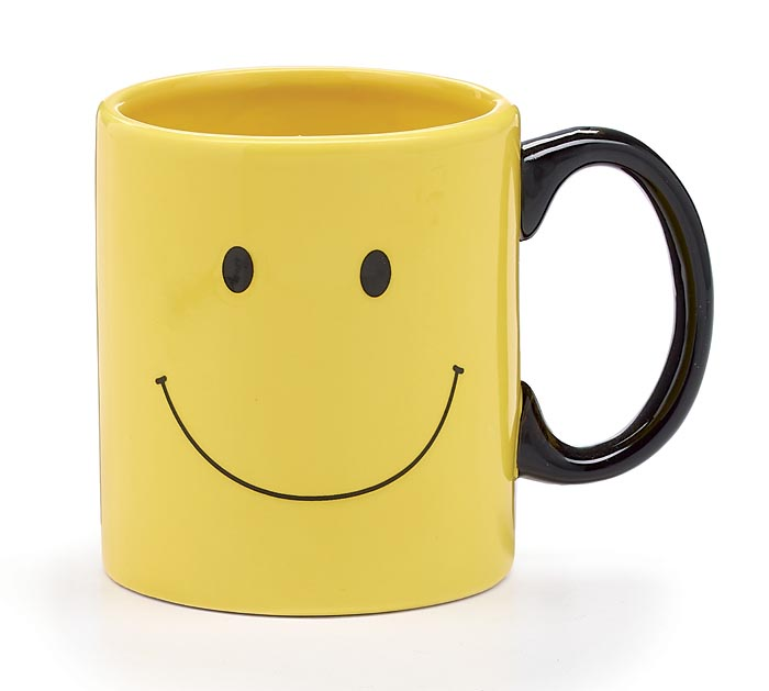 SMILEY FACE CERAMIC MUG W/ BOX