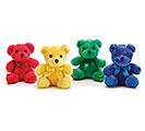 PLUSH JEWEL TONE TEDDY BEAR SET
