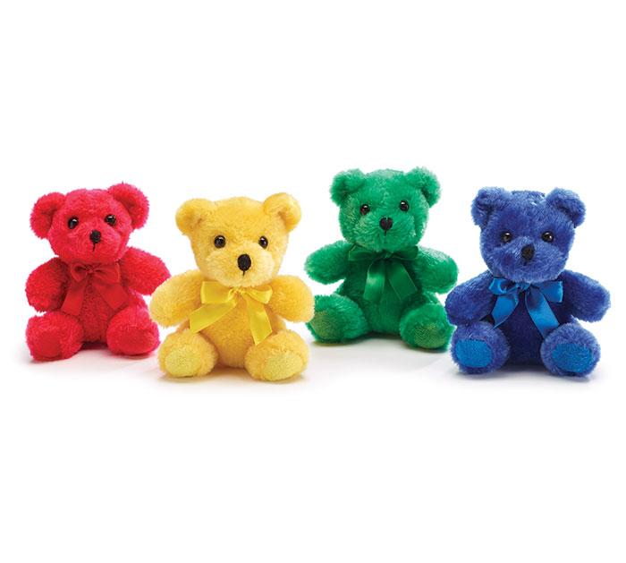 PLUSH JEWEL TONE TEDDY BEAR SET