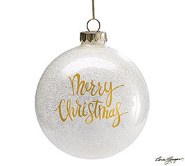 HOLIDAY GOLD GLASS BALL ORNAMENT