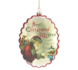 CHRISTMAS WISHES GLASS ORNAMENT
