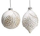 GOLD BRUSHED RAISED PINE CONE ORNAMENT