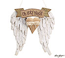 OH HOLY NIGHT W/ ANGEL WINGS ORNAMENT