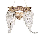 OH HOLY NIGHT ANGEL WING ORNAMENT