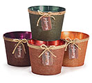 "6"" TIN POT COVER SET W/ THANKFUL TAG"