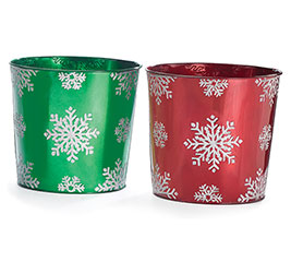 POT COVER SNOWFLAKE ASTD RED AND GREEN