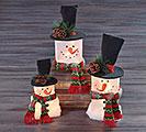 LED ICE CUBE SNOWMAN FAMILY