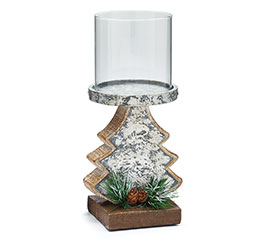 RESIN CHRISTMAS TREE CANDLEHOLDER