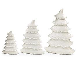 WHITE PORCELAIN CHRISTMAS TREE SET