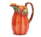 ORANGE PORCELAIN PUMPKIN PITCHER