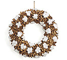 NATURAL COTTON BOLL WREATH