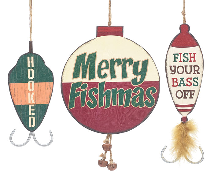 FISHING BOBBER/LURE ORNAMENT SET