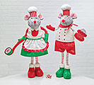STANDING CHEF MOUSE COUPLE DECOR SET