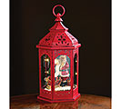 RED ANTIQUE STYLE LANTERN/INNER MOTIF