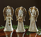 SILVER AND GOLD HAND-PAINTED RESIN ANGEL